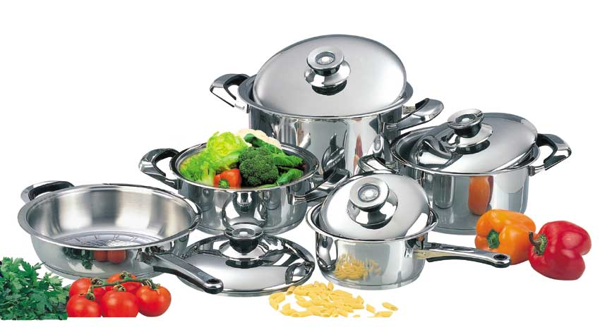 steel magic 4 easy steps to clean stainless steel cookware. Black Bedroom Furniture Sets. Home Design Ideas