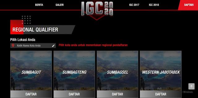 Pendaftaran IGC 2020