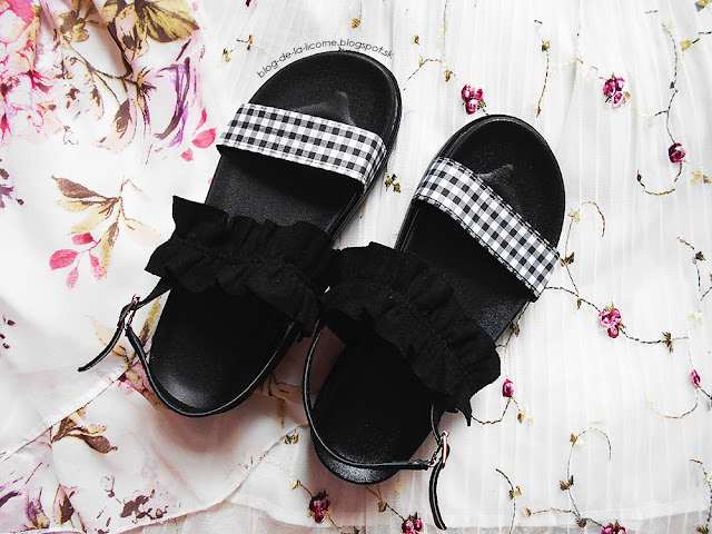 Plaid Chic Ruffles Contrasting Color Sandals