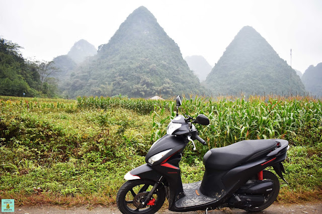 Alquiler de moto en Cao Bang, Vietnam