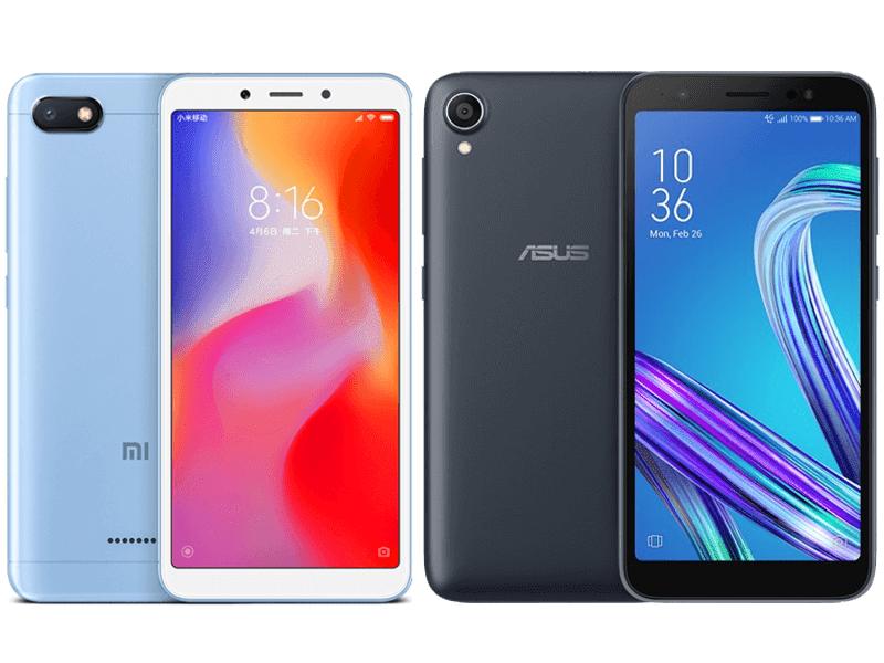 Xiaomi Redmi 6A vs ASUS ZenFone Live L1 Specs Comparison