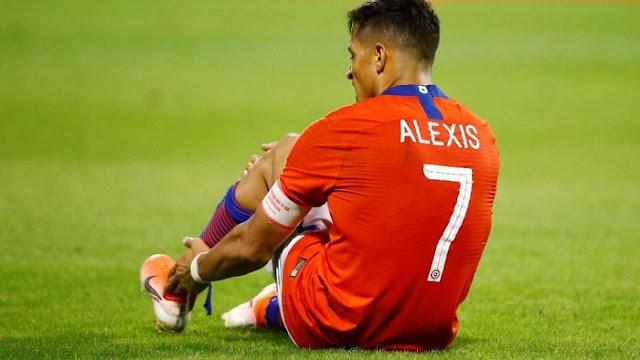 Jihar News, Alexis Sanchez Dipulangkan ke Inter Karena Cedera bersama Timnas Chile