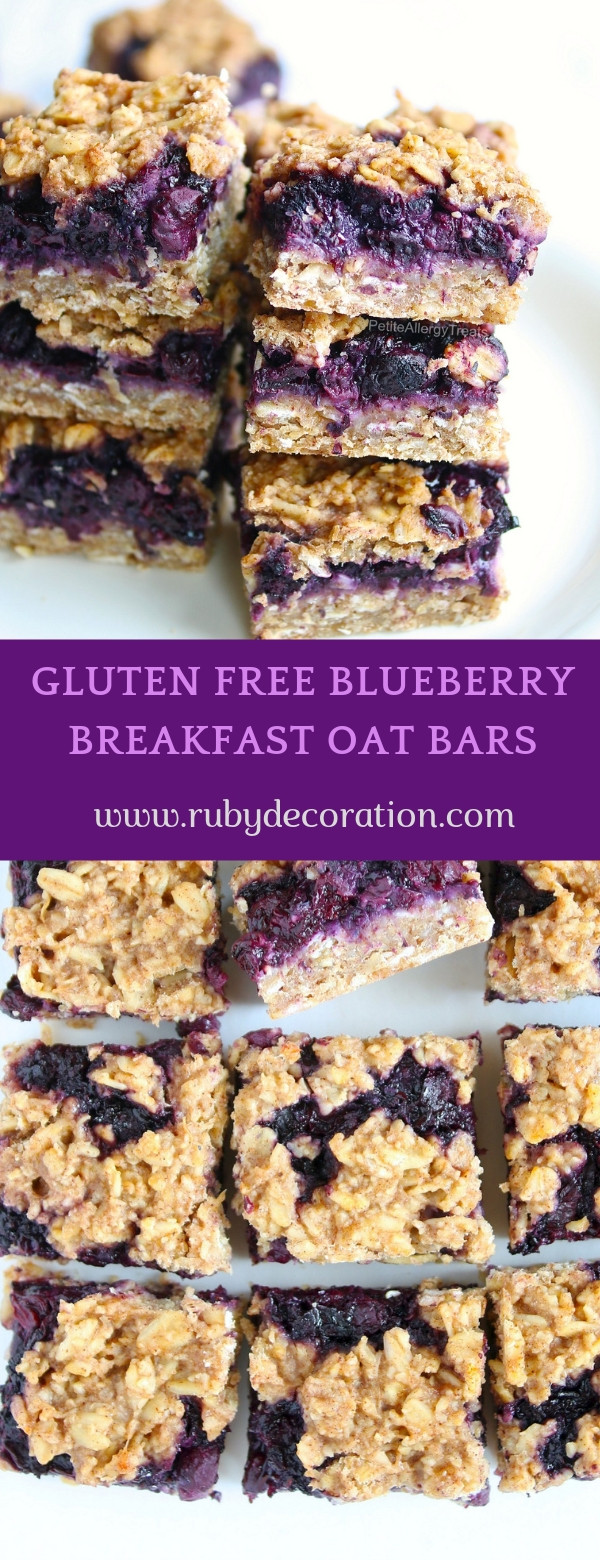 GLUTEN FREE BLUEBERRY BREAKFAST OAT BARS