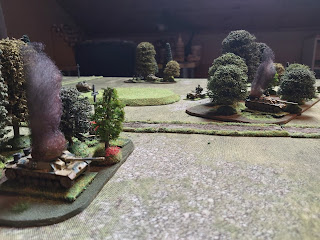 The StuGs fail their morale roll and rout off table