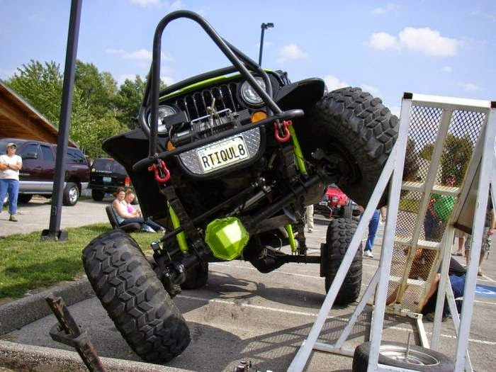 Rock crawler jeep on RTI Scale