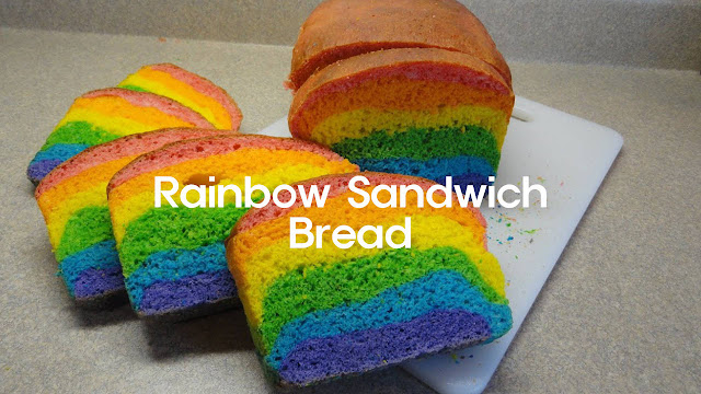 Rainbow Sandwich Bread