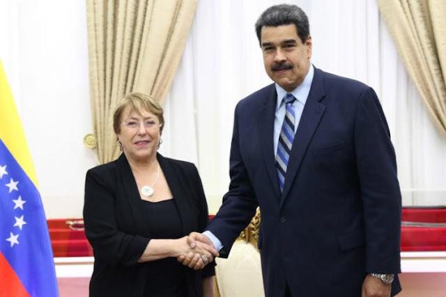 Maduro atacó a Michelle Bachelet durante el Consejo de DDHH de la ONU