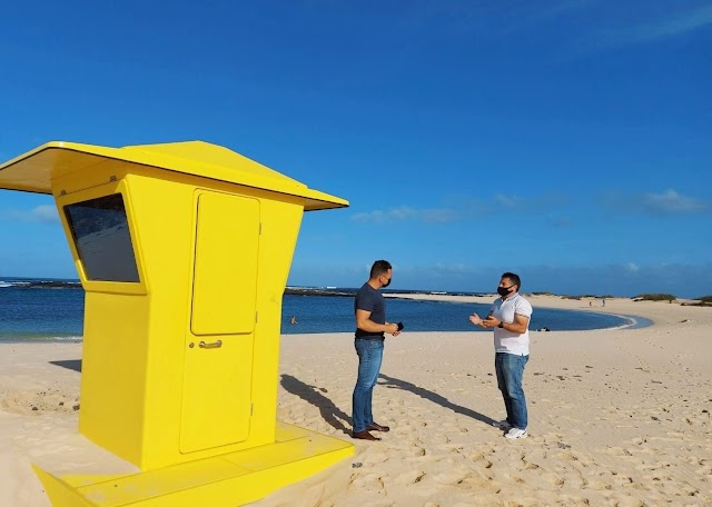 Fuerteventura.- La Oliva sigue mejorando la seguridad de las playas del municipio con más Puestos de Vigilancia