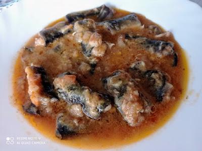 Anguila en salsa (Anguila amb suc)