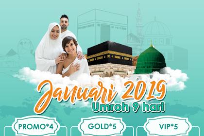 Paket Umroh 9 Hari Bulan Januari 2020