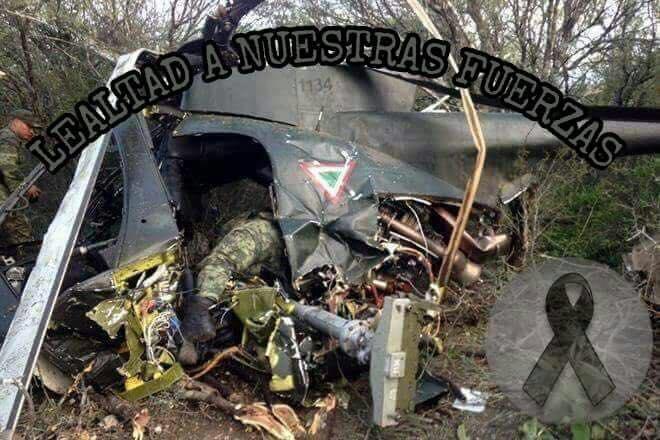 Confirman muerte de militar en desplome de helicóptero del Ejército en Guerrero.