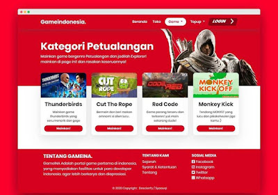Source Code Website Platform Game Indonesia