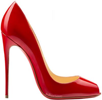 Red Christian Louboutin Tibur open toe pumps #brilliantluxury