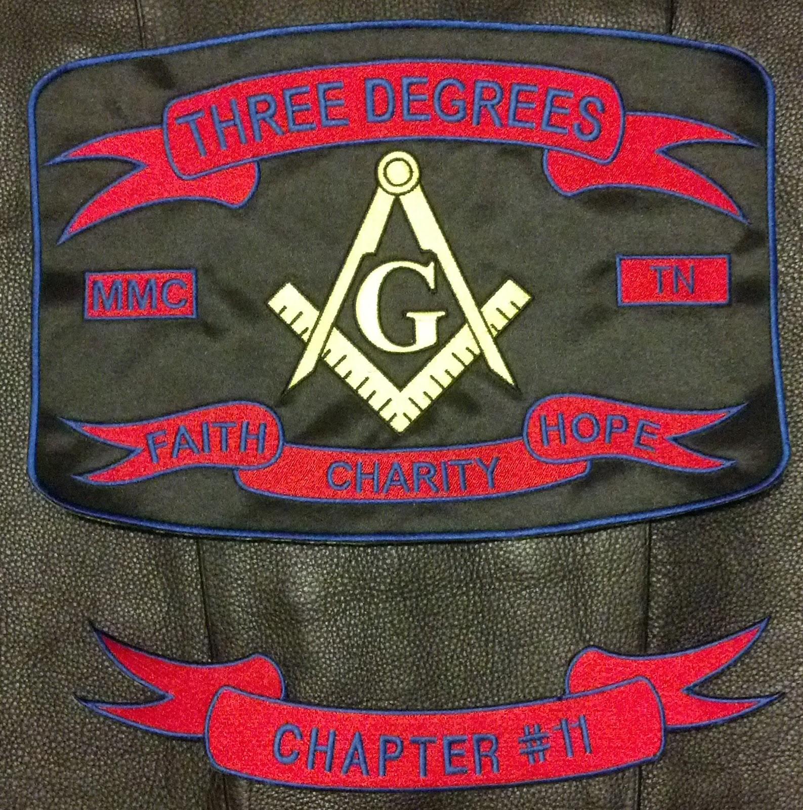 Masonic motorcycle patch