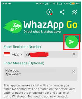 Cara Kirim Pesan Whatsapp Tanpa Menyimpan Nomor HP