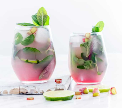 Rhubarb Mojito #drink