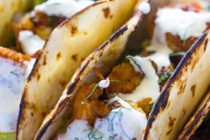 Recipe: Spicy Shrimp Tacos with Avocado Salsa & Sour Cream Cilantro Sauce