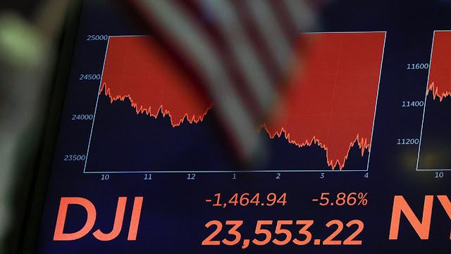 El Dow Jones cae 1.600 puntos en medio de la intensificación de la crisis del coronavirus