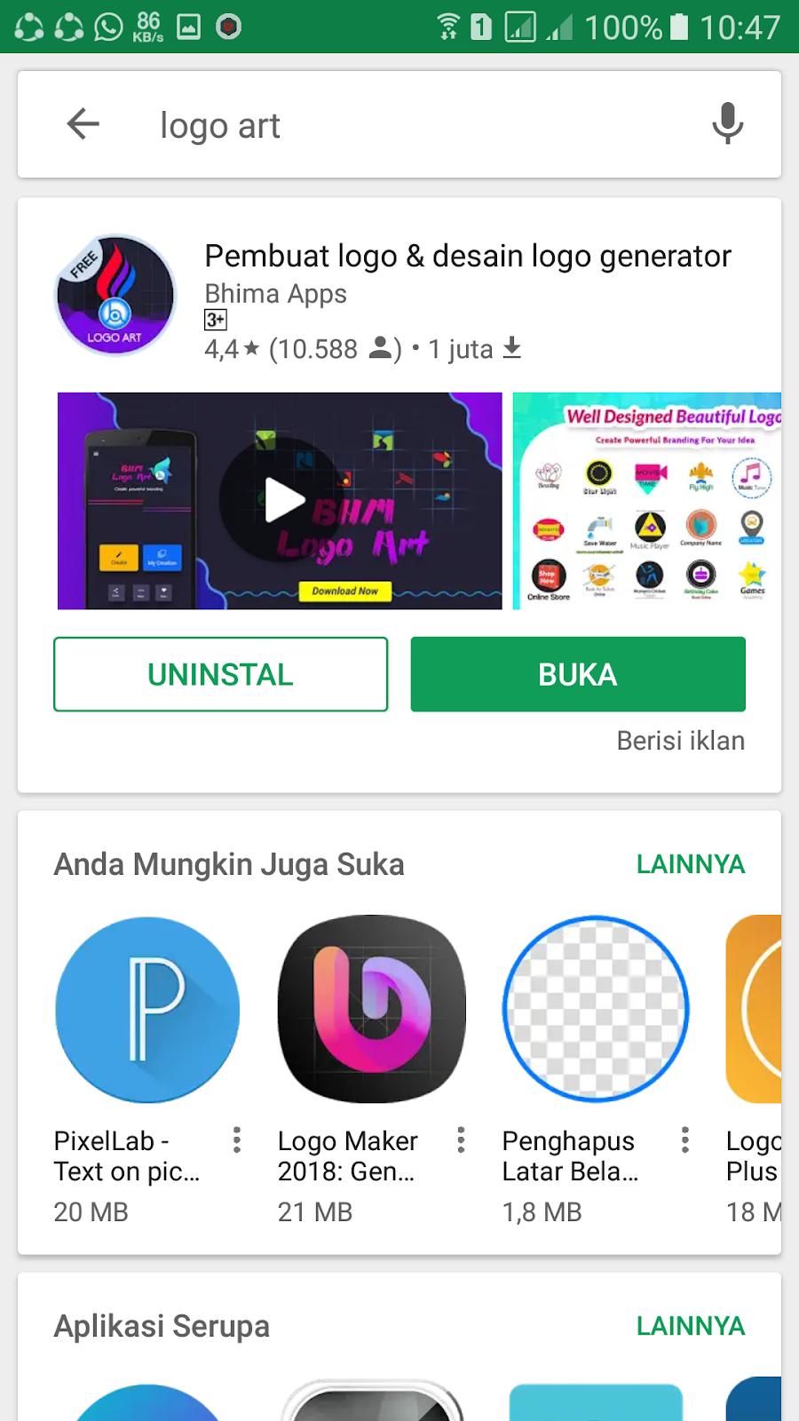 cara membuat logo di android Dengan Mudah - sobat it 99