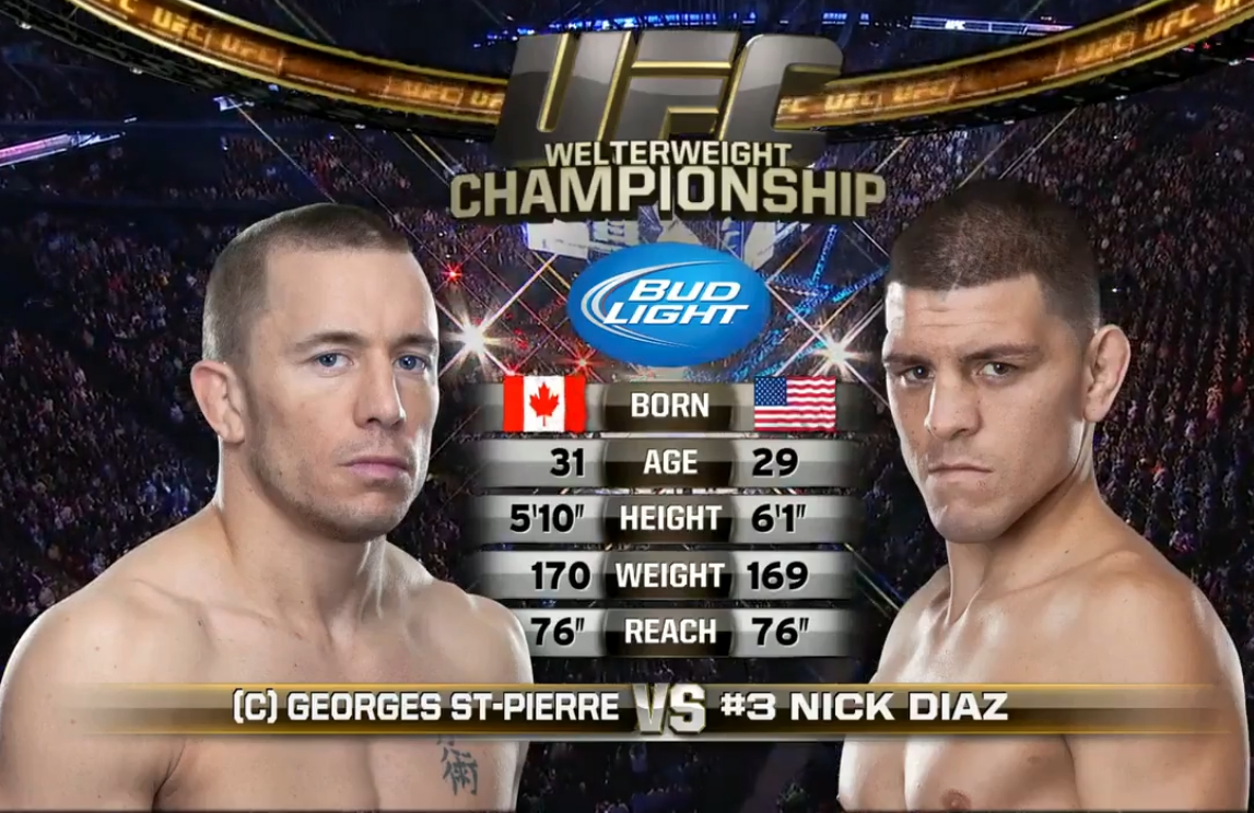 Todas As Lutas Full Fight Georges St Pierre Vs Nick Diaz Full Fight Video