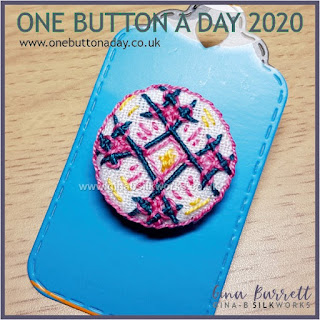 One Button a Day 2020 by Gina Barrett - Day 57: Retro Atomic