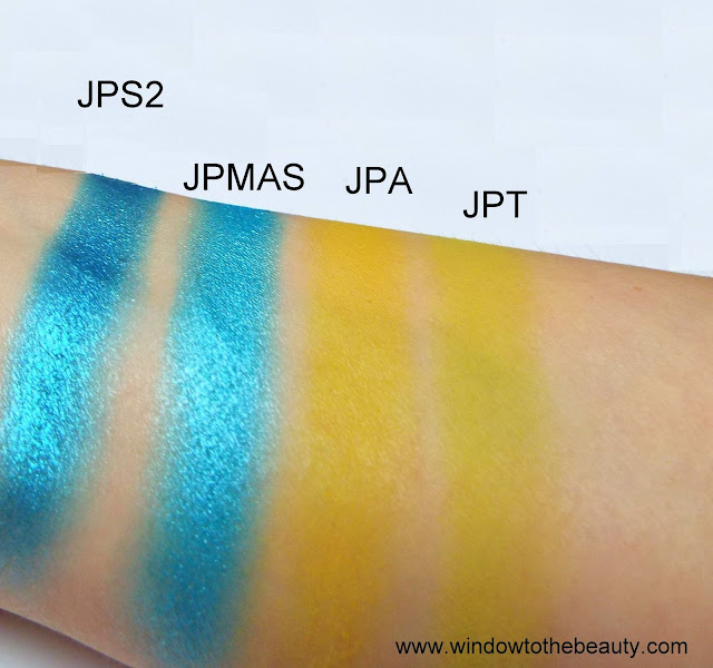 juvia's place yellow and blue shades comparison