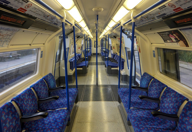 A tube train interior