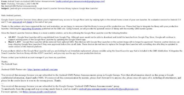 Google resmi hentikan Louncher Google Now