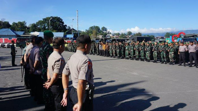 PAM VVIP Kunjungan Kenegaraan Raja dan Ratu Belanda di Parapat, Simalungun, Rabu (11/3/2020)