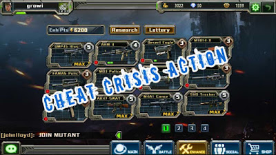 Cheat Crisis Action Terbaru