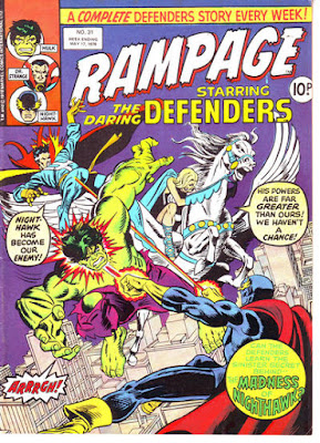 Rampage #31, the Defenders vs Nighthawk