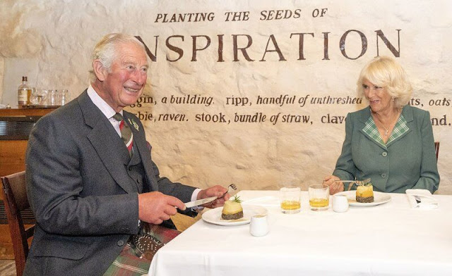 Prince of Wales and Duchess of Cornwall visited Dumfries House and Robert Burns' cottage
