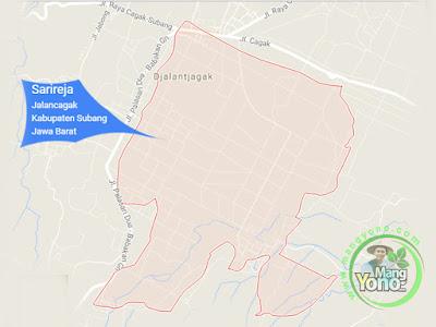 PETA : Desa Sarireja, Kecamatan Jalancagak