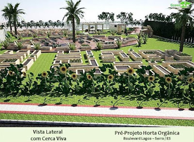 Vila 3D Projeto Maquete Eletrônica Horta Urbana Paisagismo Área Verde