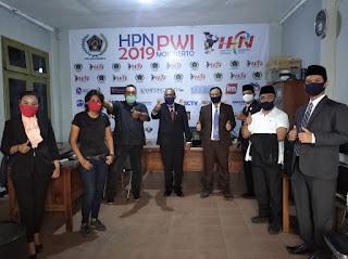 Dewan Kunjungi Posko Pengaduan Covid-19 PWI Mojokerto, Sunarto : Siap Bersinergi