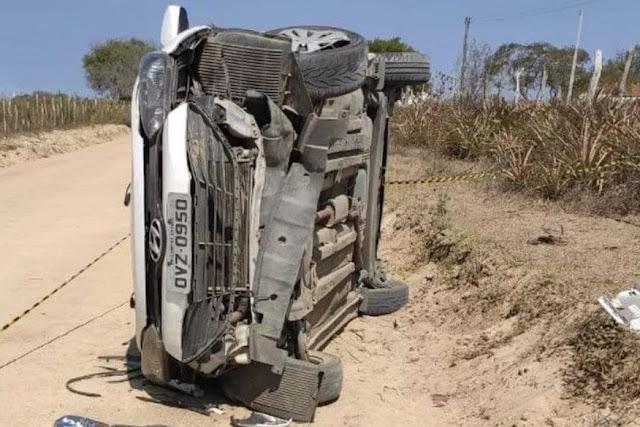 Bebê de 10 meses morre após ser arremessado de veículo em acidente entre São Vicente do Seridó e Olivedos