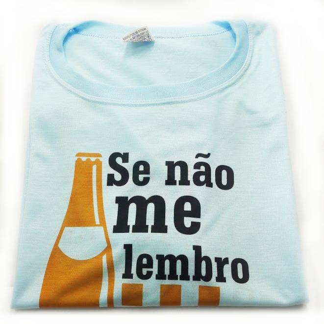 Camiseta%2BPersonalizada%2Bna%2Bcor%2BAzul - Camiseta personalizada é um presente criativo e original.