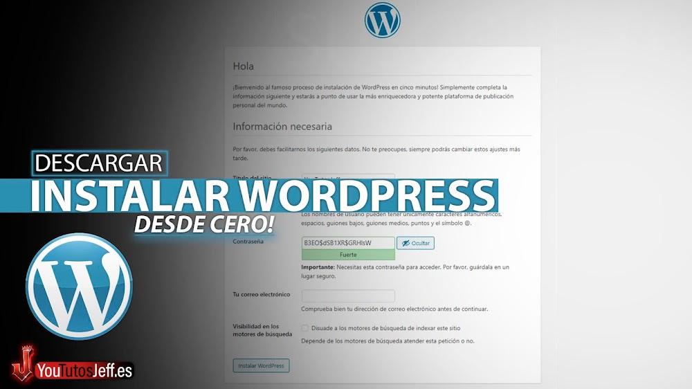 Como Instalar Wordpress en Español Desde Cero