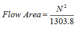 drilling bits total flow area calculation equation