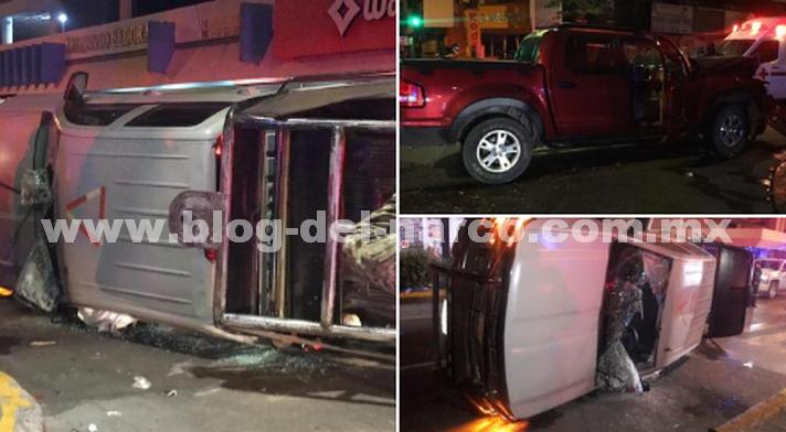 En Culiacán conductor ebrio impactó su troca contra una Camioneta de la Marina, cinco elementos resultaron heridos, uno de gravedad