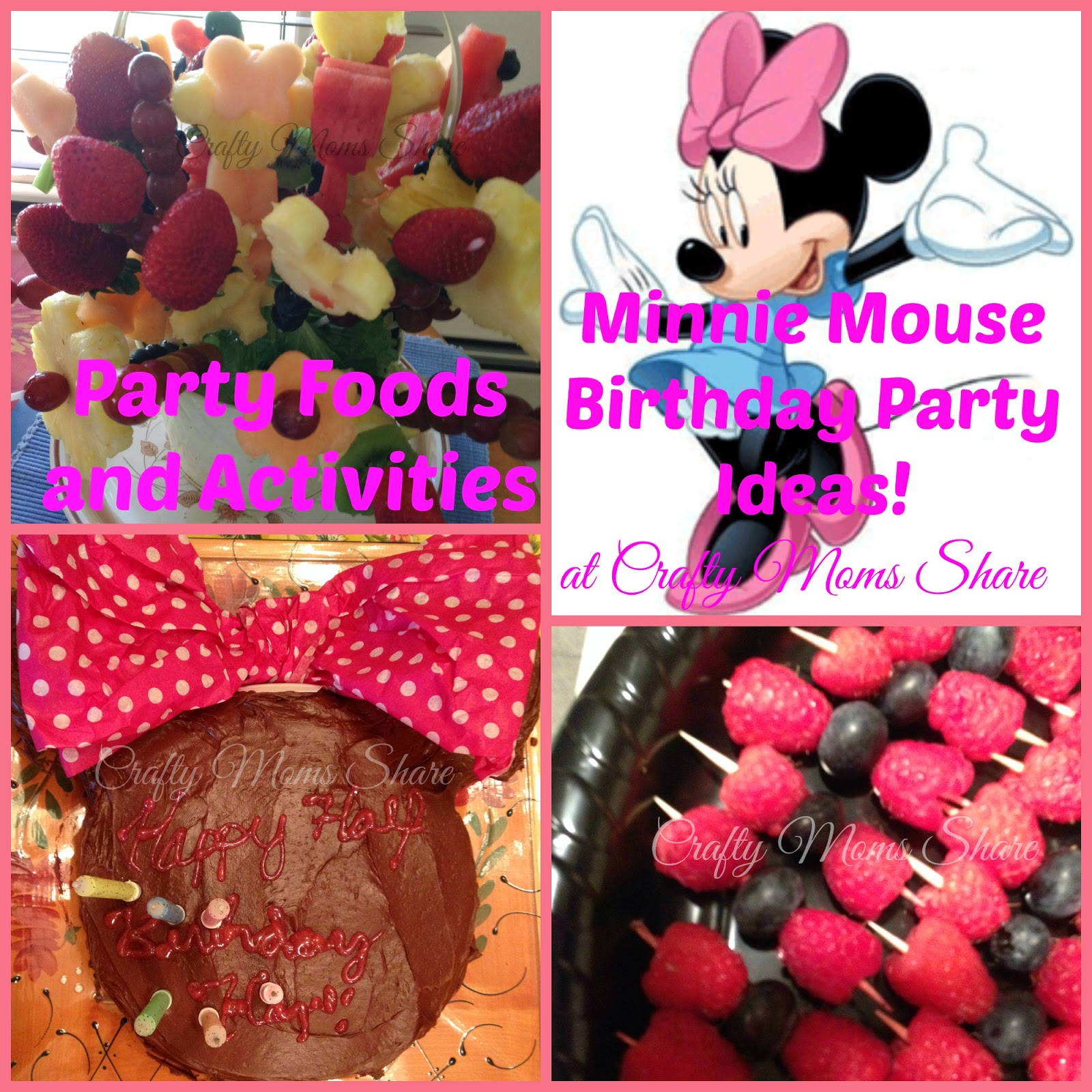 Crafty Moms Share Minnie Mouse Party Foods And Activities