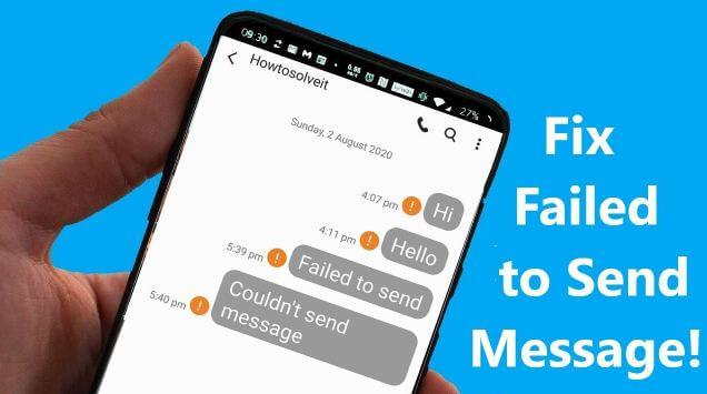 إصلاح, مشكلة, فشل, إرسال, رسالة, نصية, SMS, وظهور, علامة, تعجب