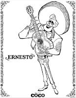 Disney•Pixar's Coco Colouring Page - Ernesto