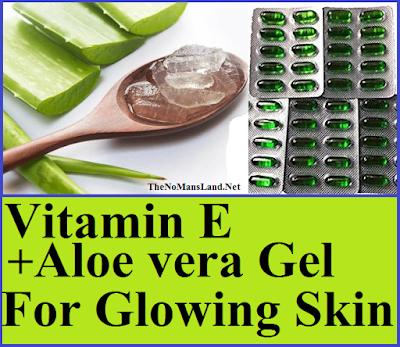 vitamin and aloe vera for face care