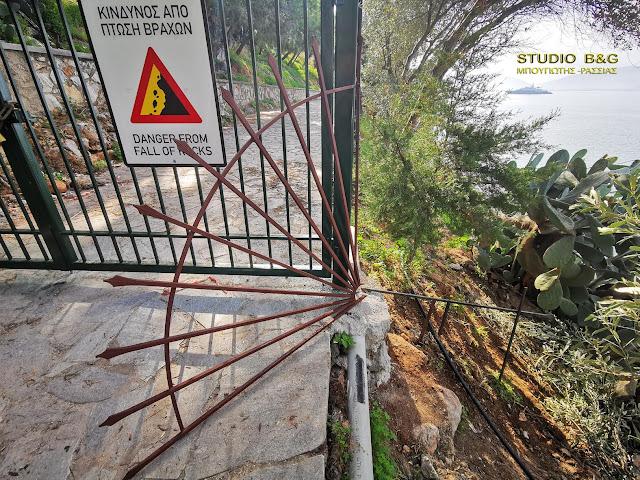 Ναύπλιο: Ανεγκέφαλοι έσπασαν την σιδηροκατασκευή που απαγορεύει την κυκλοφορία στον πεζόδρομο Αρβανιτιάς