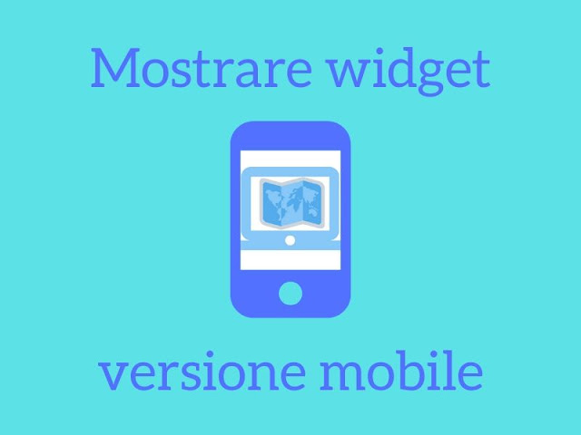 Come mostrare un widget nella versione mobile di un sito
