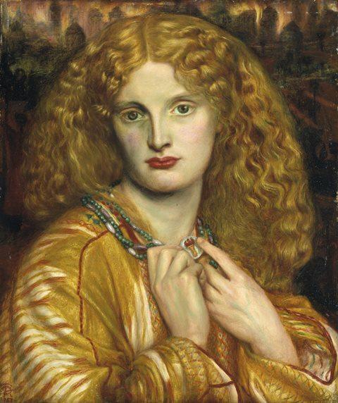Helen of Troy by Rossetti, Pre-Raphaelite hair