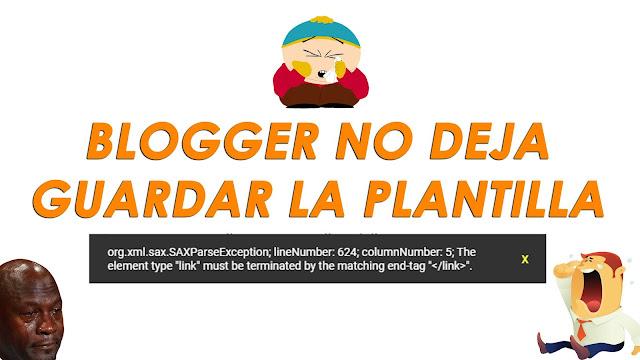 Blogger no deja guardar la plantilla - Charkleons.com
