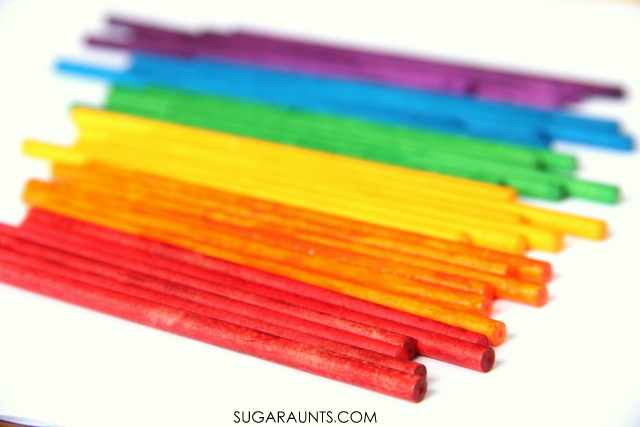 Rainbow lollipop sticks