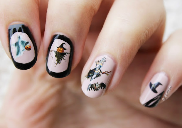 halloween nails ghosts witches